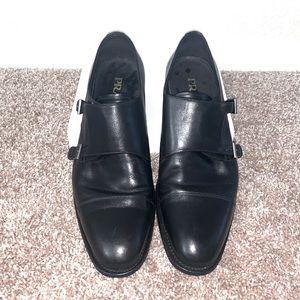 Prada Saffiano Leather Double-Monk Strap Shoe